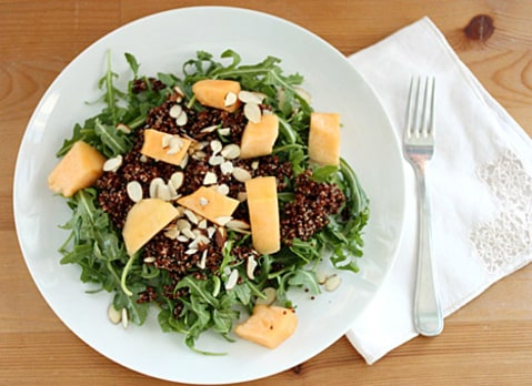 quinoa, almond and arugula salad