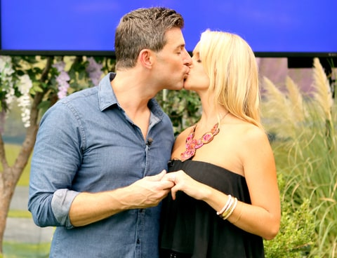 Jeff Schroeder proposes to his girlfriend Jordan Lloyd, at the BIG BROTHER house, in 2014.