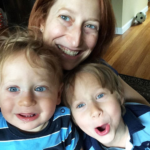 Writer Jen Simon and her sons