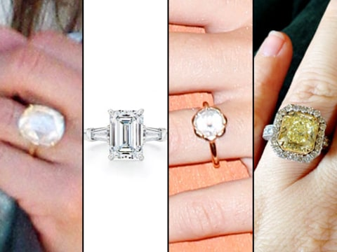 rings Jennifer Aniston, Angelina Jolie, Miley Cyrus, and Kelly Clarkson