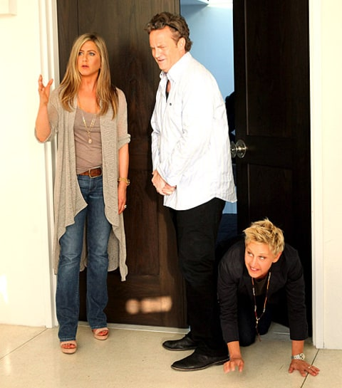 jennifer aniston and matt and ellen