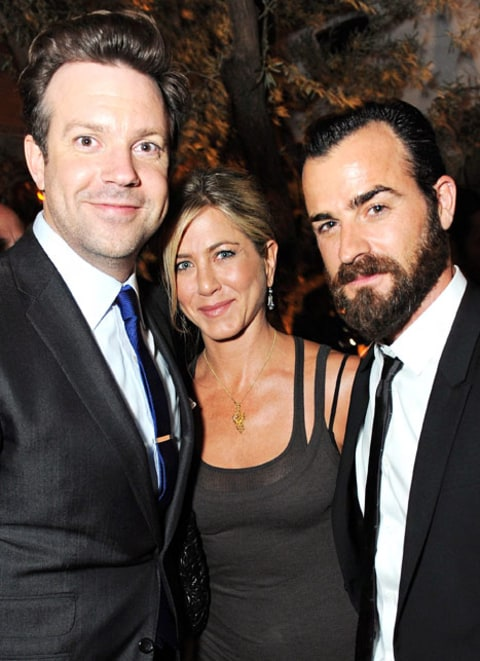 aniston and theroux with Jason Sudeikis