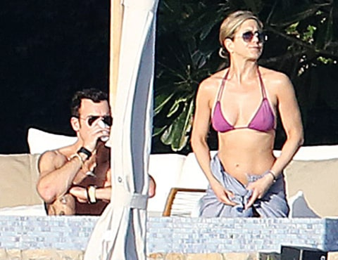 jennifer aniston purple bikini