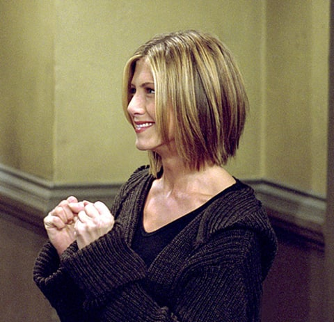 front wave hairstyle : Friends Turns 20: See Rachel Greens Hairstyles Throughout the Seasons ...