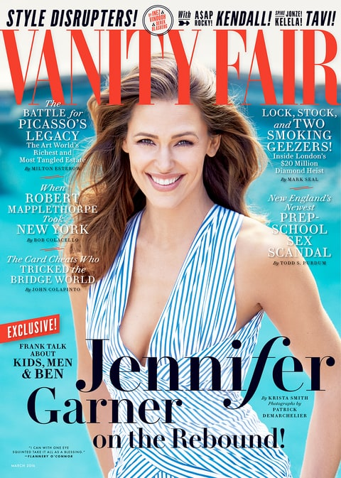 Jennifer Garner on the cover of 'Vanity Fair'