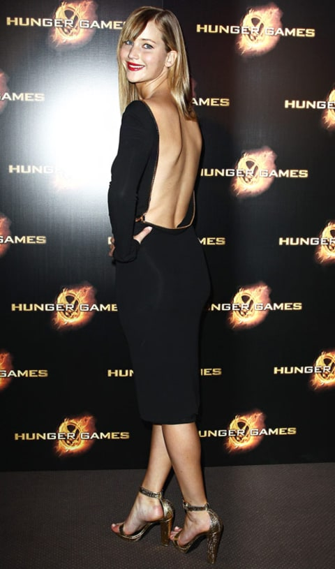 jennifer lawrence backless dress paris