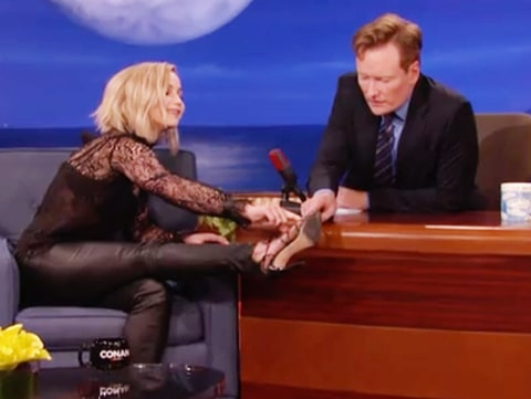 Jennifer Lawrence and Conan O'Brien