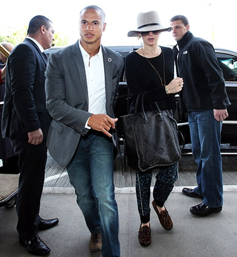 jennifer lawrence and bodyguard justin riblet