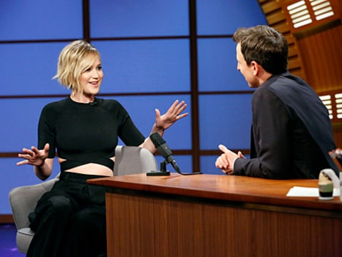 Jennifer Lawrence and Seth Meyers
