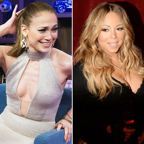 Jennifer Lopez and Mariah Carey