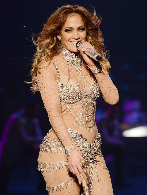 Jennifer Lopez performing.