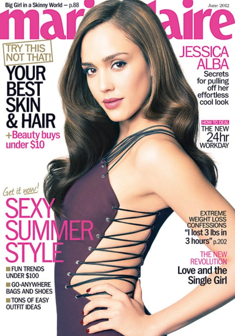 Jessica Alba on Marie Claire's cover
