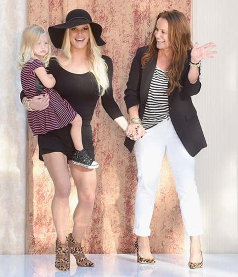 Jessica Simpson Brings Children Maxwell Ace To Fashion