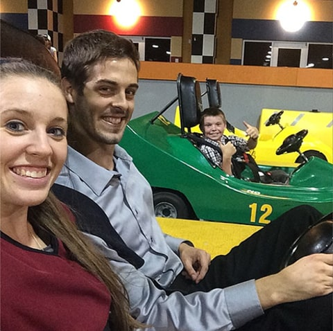 Jill and Derick Go karting