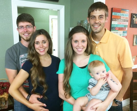 Ben and Jessa with Jill, Derick and their baby, Israel.