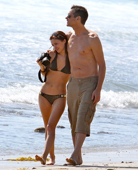 Jim Carrey and Cathriona beach 2012