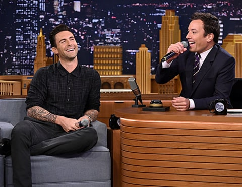 Adam Levine on Jimmy Fallon