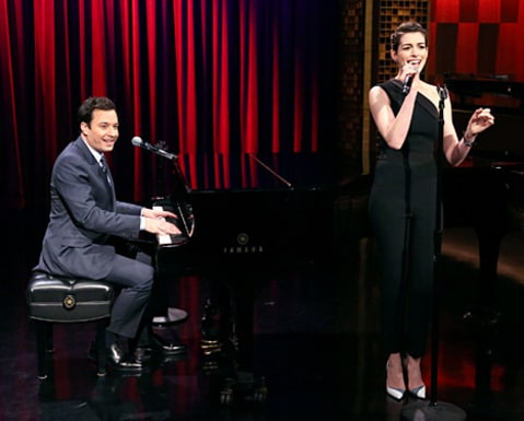 Anne Hathaway and Jimmy Fallon