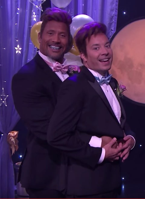 Dwayne 'The Rock' Johnson and Jimmy Fallon