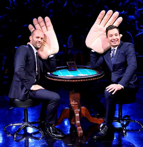 Jason Statham and Jimmy Fallon