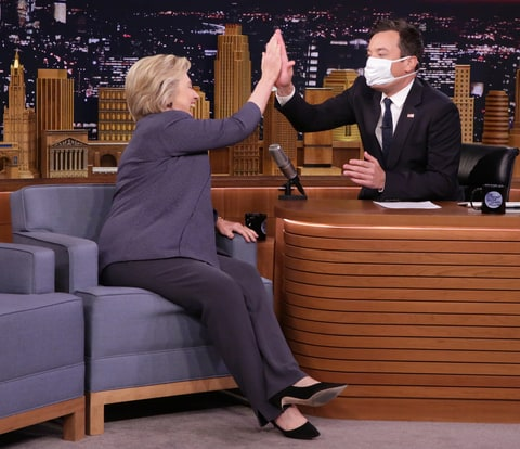 Hilary Clinton and Jimmy Fallon