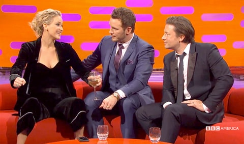 Jennifer Lawrence Chris Pratt Graham Norton