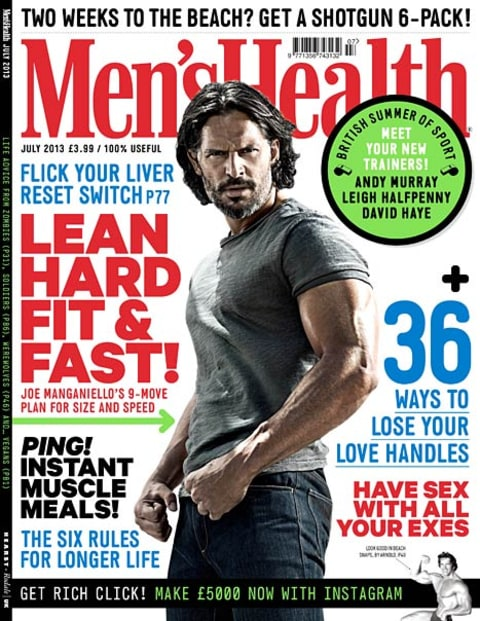joe manganiello men's health cover