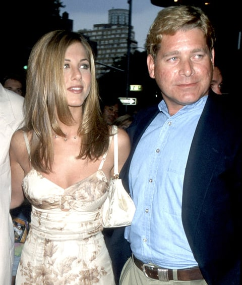 Jennifer Aniston, and brother John Melick at the Sony Lincoln Square in New York City.
