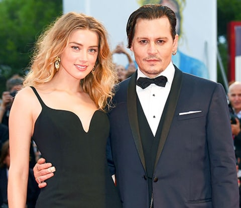 Johnny Depp and Amber Heard together