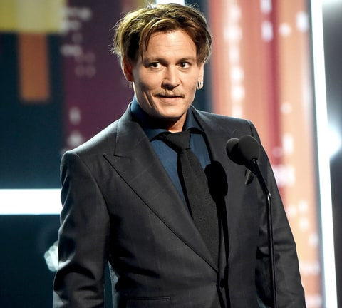 Johnny Depp accepts the Favorite Movie Icon Award during the People's ...