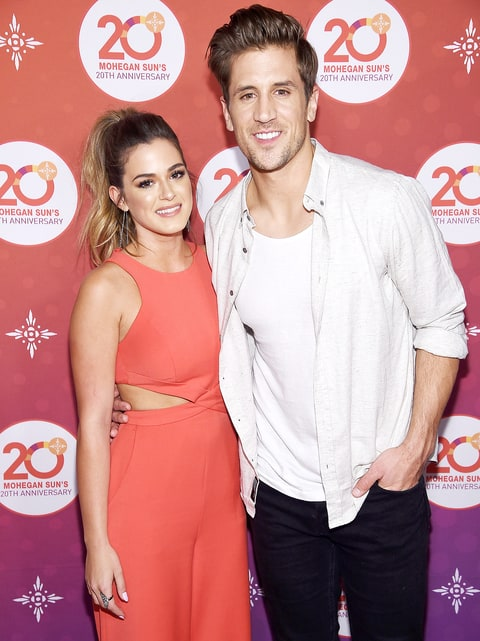Jojo Fletcher and Jordan Rodgers of The Bachelorette walk the red carpet before the Kevin Hart Official After Party with DJ Ruckus for Mohegan Sun's 20th Anniversary on October 14, 2016 in Uncasville, Connecticut.
