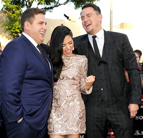 Jonah Hill, Jenna Dewan and Channing Tatum