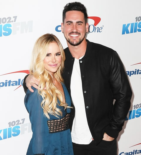 Amanda Stanton and Josh Murray arrive at 102.7 KIIS FM's Jingle Ball 2016 at the Staples Center on December 2, 2016 in Los Angeles, California.