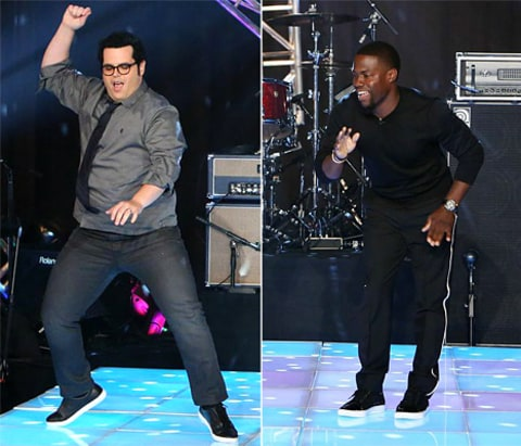 josh gad and kevin hart dance-off