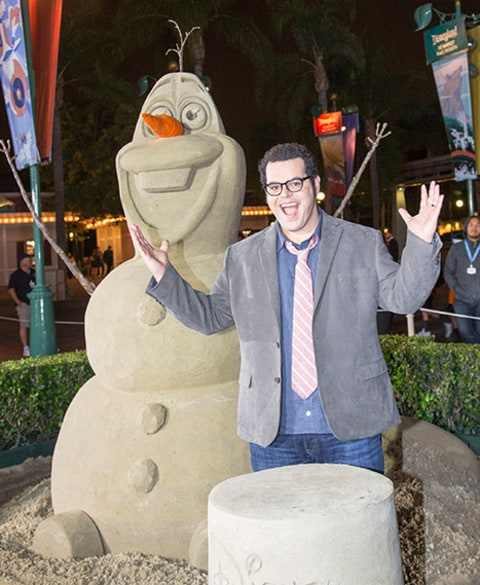 Josh Gad and Olaf