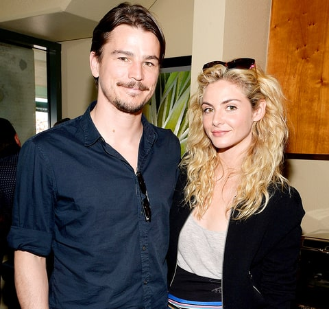 Josh Hartnett and Tamsin Egerton visit The Moet and Chandon Suite at the 2015 BNP Paribas Open on March 21, 2015.