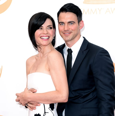 Julianna Margulies and Keith Lieberthal 2013 Emmys