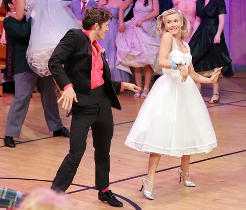 Tveit and Julianne in 'Grease: Live.'