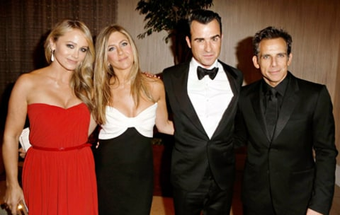 Christine Taylor, Jennifer Aniston, Justin Theroux, Ben Stiller