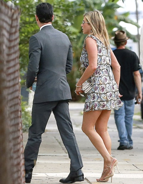 Jen and Justin at lake's wedding