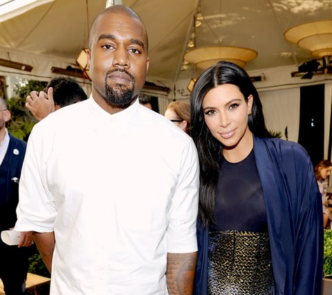 Kanye West and Kim Kardashian attend CFDA/Vogue Fashion Fund Show and Tea at Chateau Marmont on October 20, 2015, in Los Angeles.