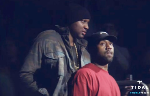 Lamar Odom and Kanye West