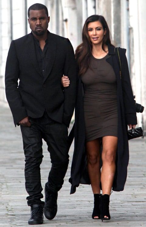 kim and kanye in italy
