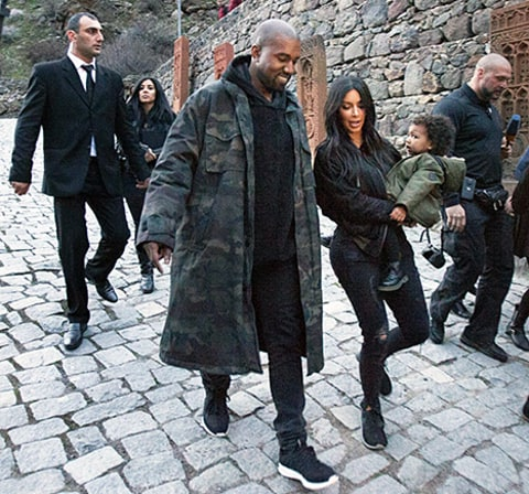 kimye in armenia with north west