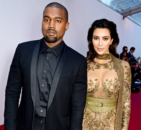 Kanye West and Kim Kardashian West attend British Vogue's Centenary gala dinner at Kensington Gardens on May 23, 2016, in London.