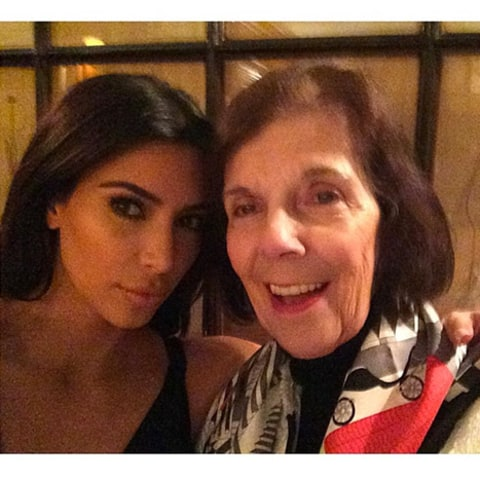 kim and grandma instagram