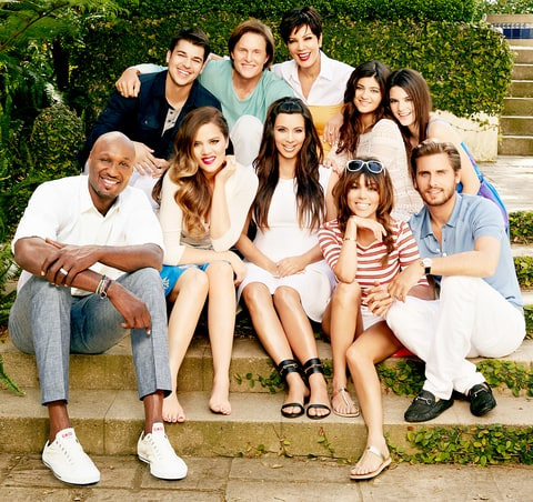 Lamar Odom, Rob Kardashian, Khloe Kardashian Odom, Caitlyn Jenner, Kim Kardashian, Kris Jenner, Kylie Jenner, Kourtney Kardashian, Kendall Jenner, Scott Disick on season 8 of Keeping up with the Kardashians.