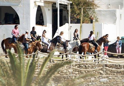 kardashians horseback riding greece