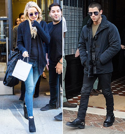 kate hudson and nick jonas in nyc