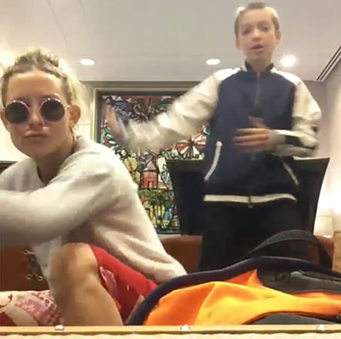 Kate Hudson & Son Ryder Dancing